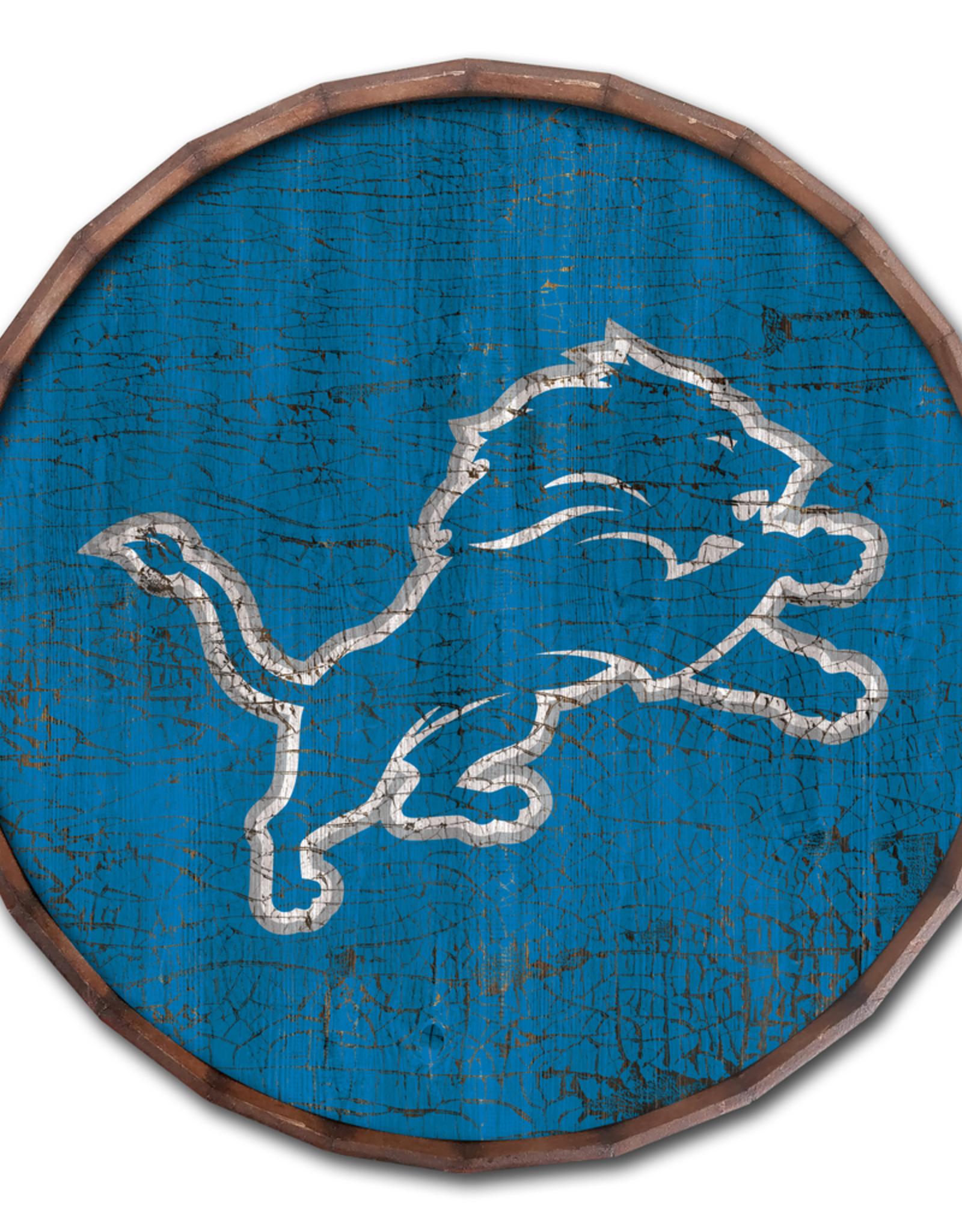 """FAN CREATIONS Detriot Lions 16"""" Cracked Barrel Top - TC"""