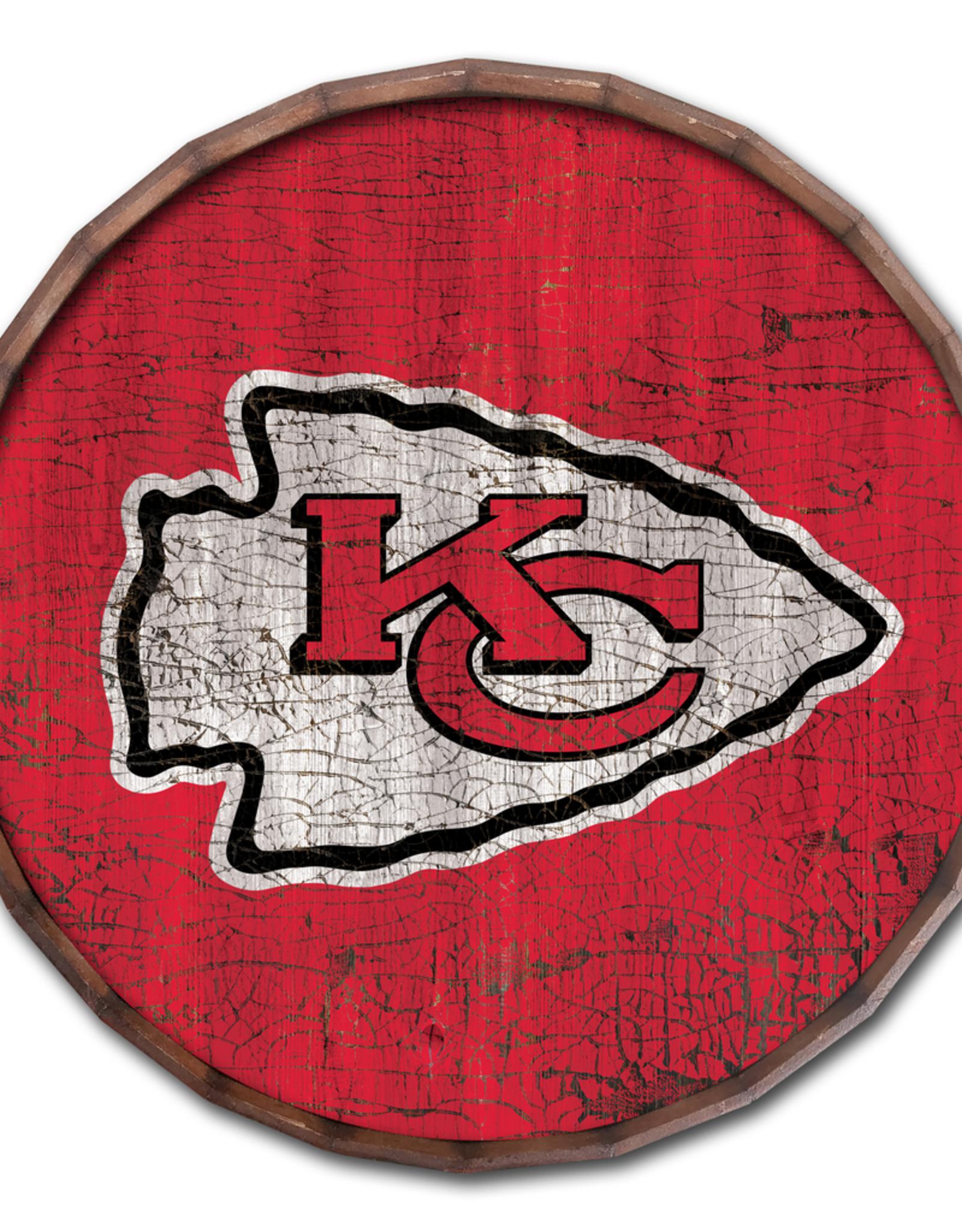 "FAN CREATIONS Kansas City Chiefs 16"" Cracked Barrel Top - TC"