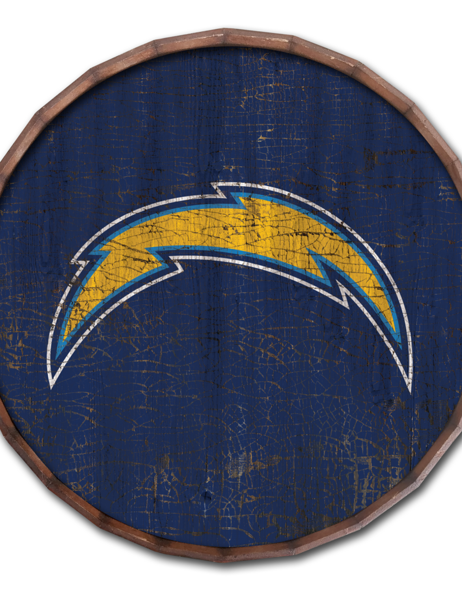 """FAN CREATIONS Los Angeles Chargers 16"""" Cracked Barrel Top - TC"""