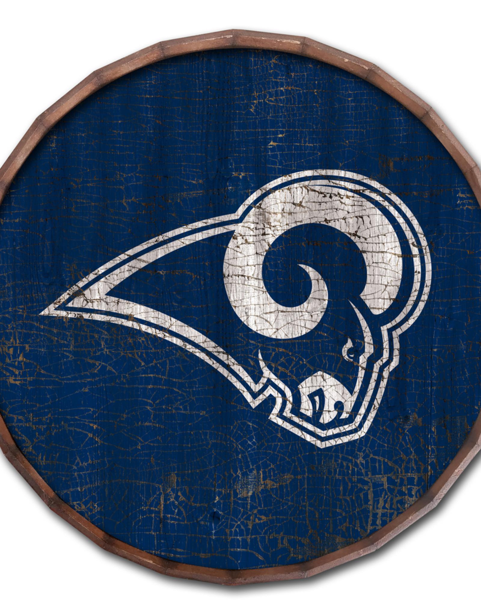 "FAN CREATIONS Los Angeles Rams 16"" Cracked Barrel Top - TC"