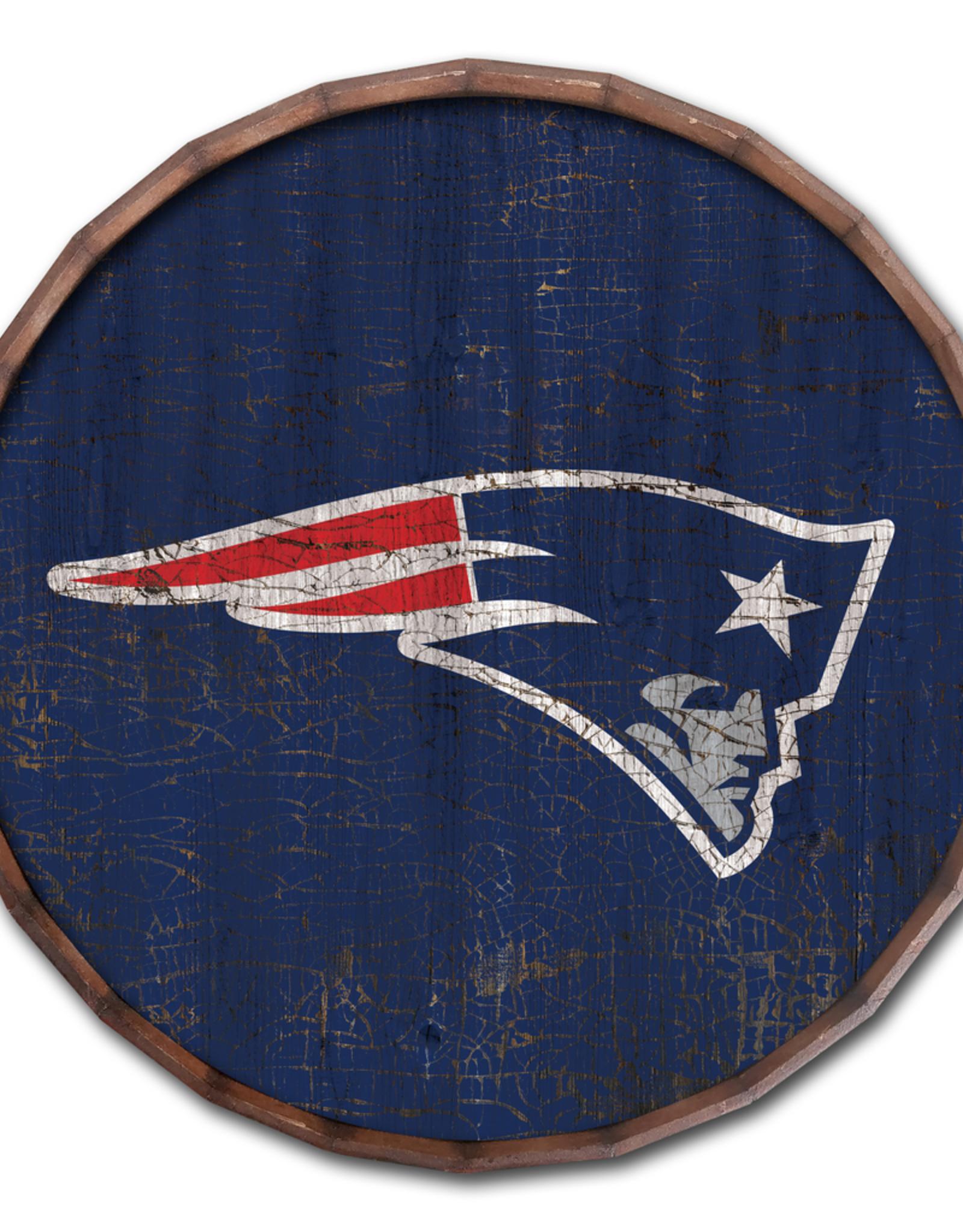 """FAN CREATIONS New England Patriots 16"""" Cracked Barrel Top - TC"""