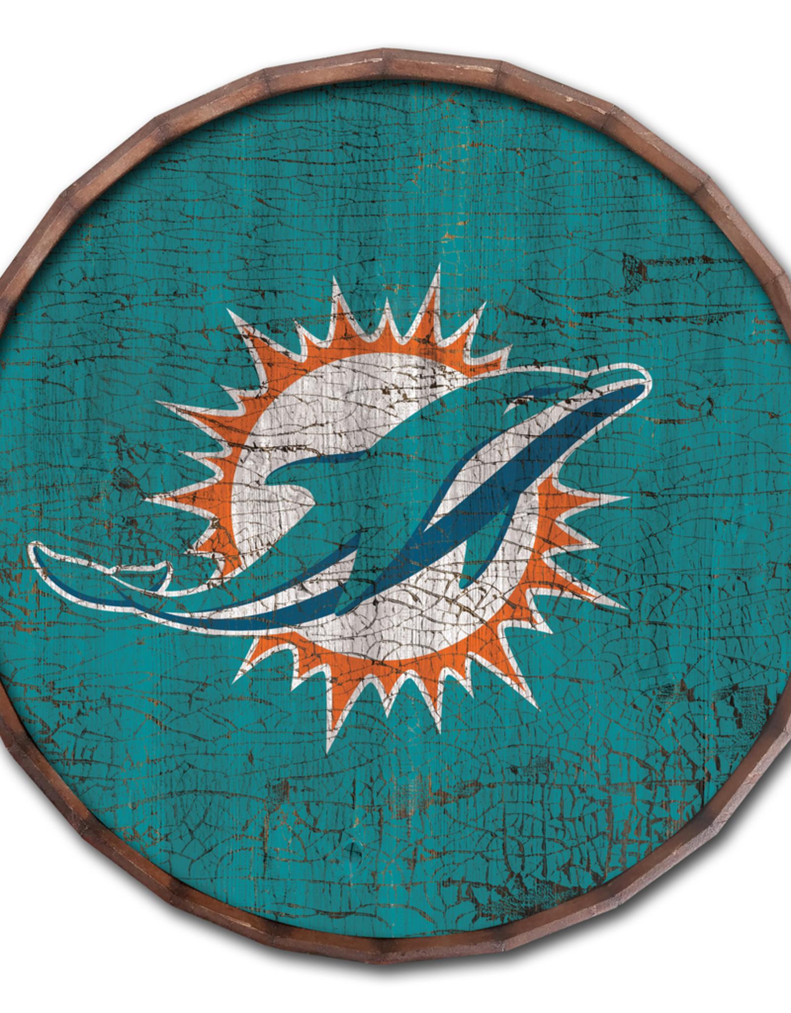 "FAN CREATIONS Miami Dolphins 16"" Cracked Barrel Top - TC"