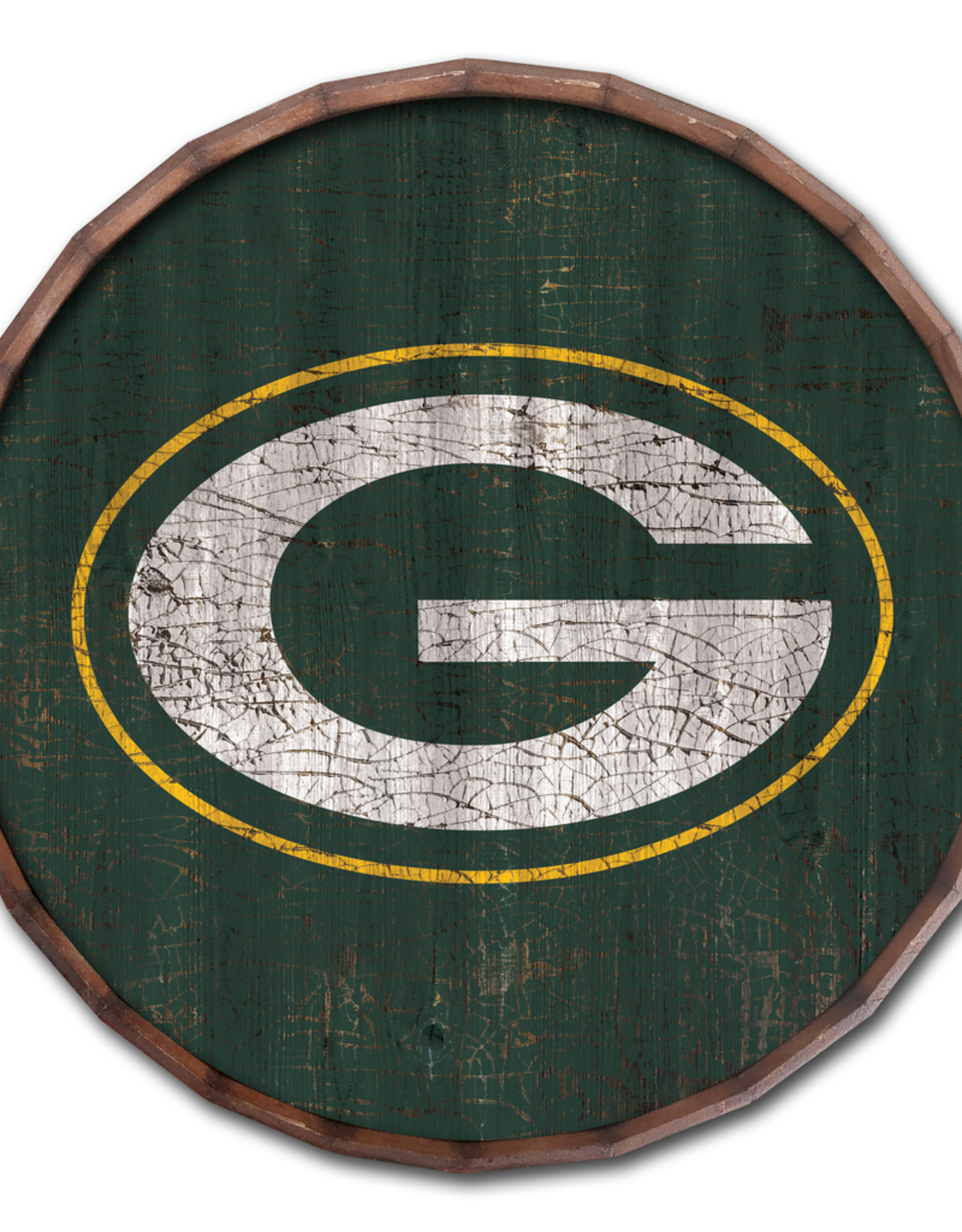 "FAN CREATIONS Green Bay Packers 16"" Cracked Barrel Top - TC"