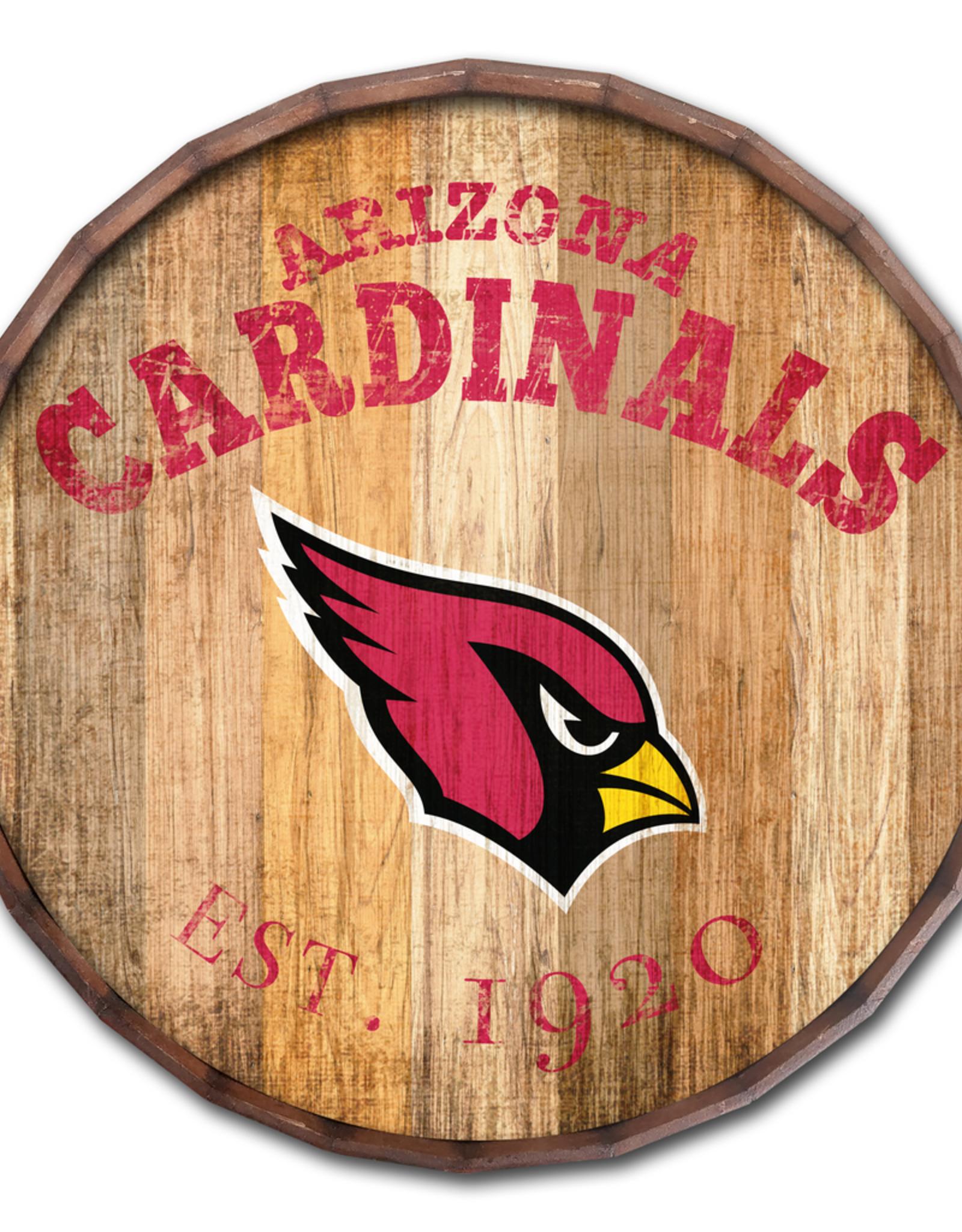 """FAN CREATIONS Arizona Cardinals 16"""" Cracked Barrel Top -EST"""
