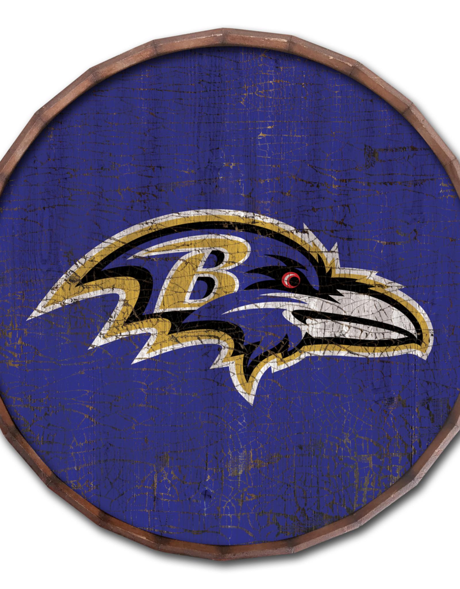 "FAN CREATIONS Baltimore Ravens 24"" Cracked Barrel Top - TC"