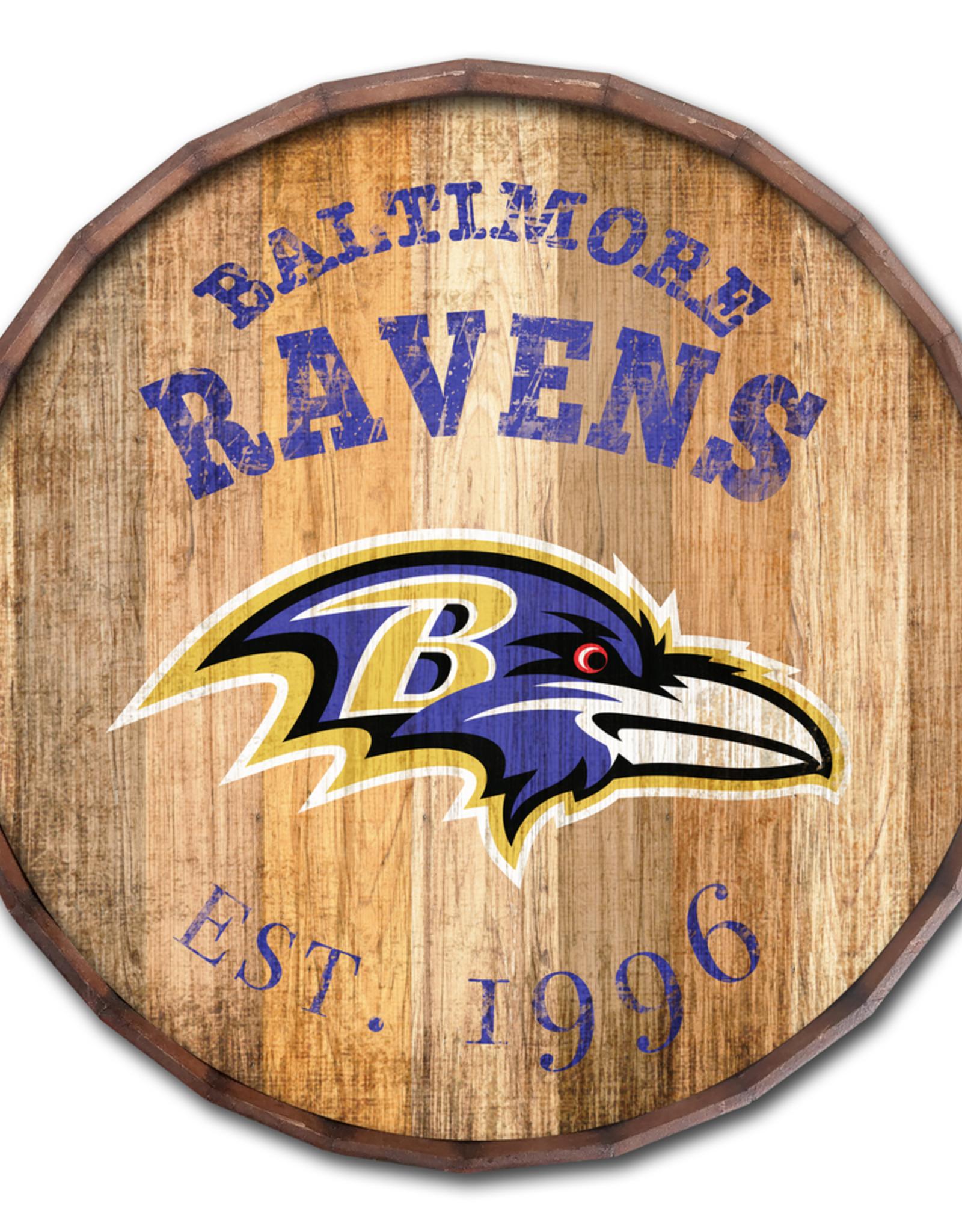 "FAN CREATIONS Baltimore Ravens 16"" Cracked Barrel Top -EST"