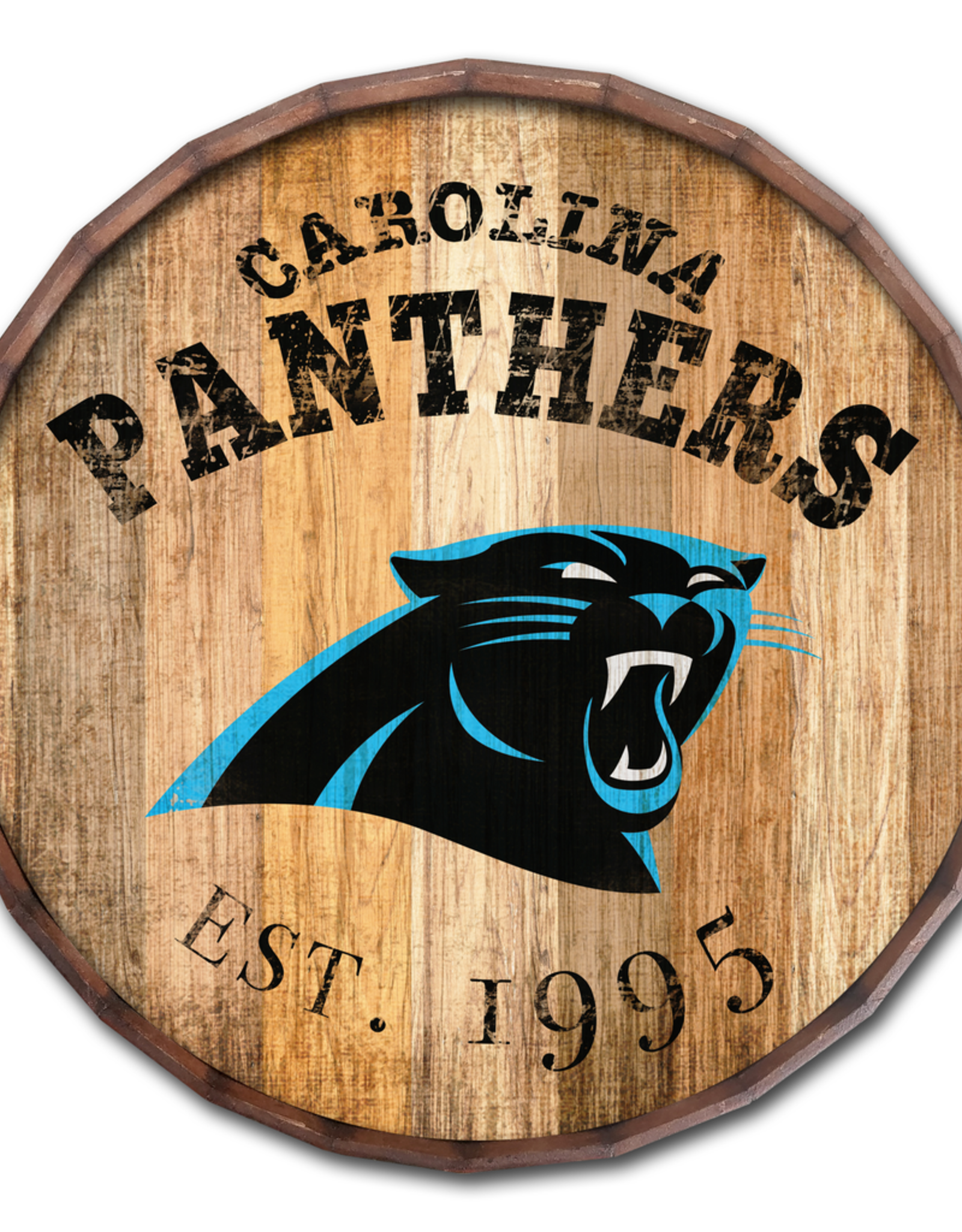 "FAN CREATIONS Carolina Panthers 16"" Cracked Barrel Top -EST"