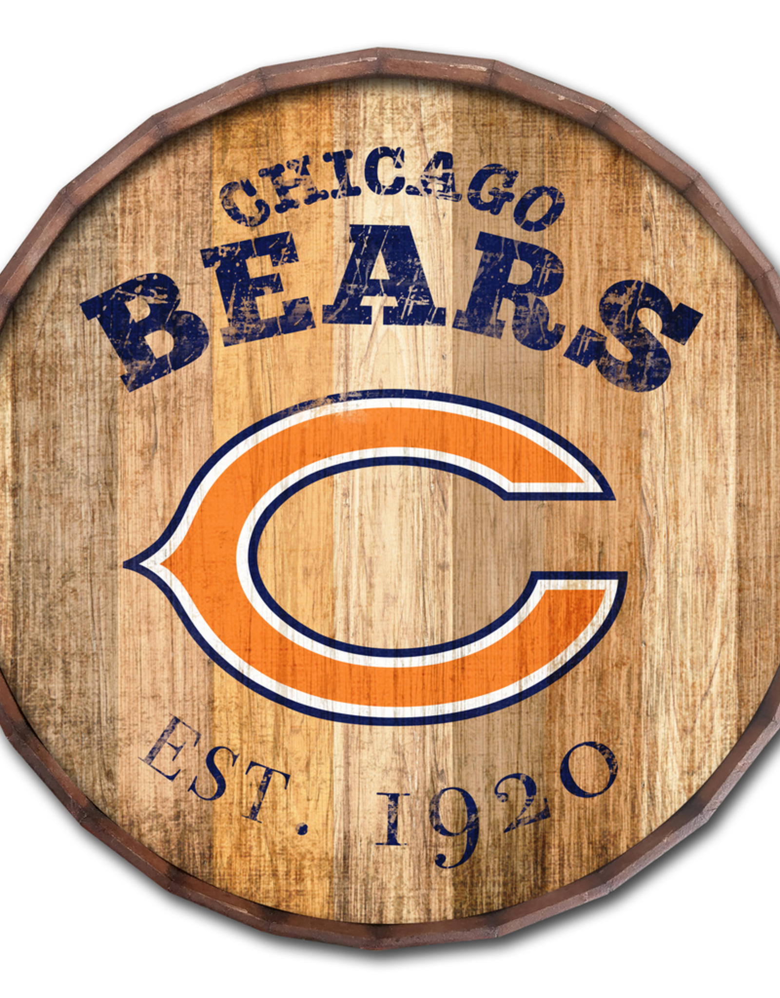 "FAN CREATIONS Chicago Bears 16"" Cracked Barrel Top -EST"