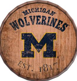 "FAN CREATIONS University of Michigan Wolverines 16"" Cracked Barrel Top -EST"