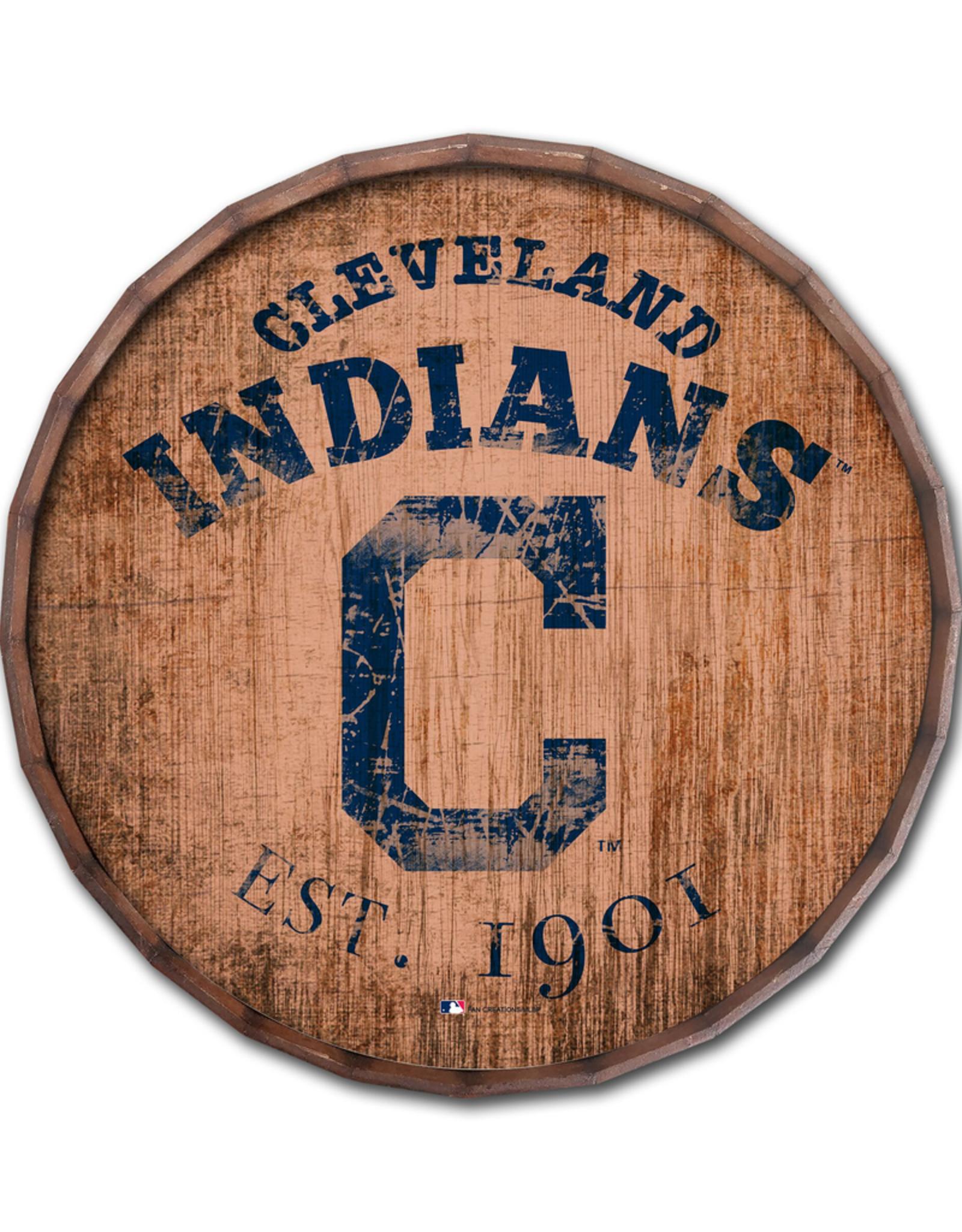"FAN CREATIONS Cleveland Indians 16"" Cracked Barrel Top -EST"