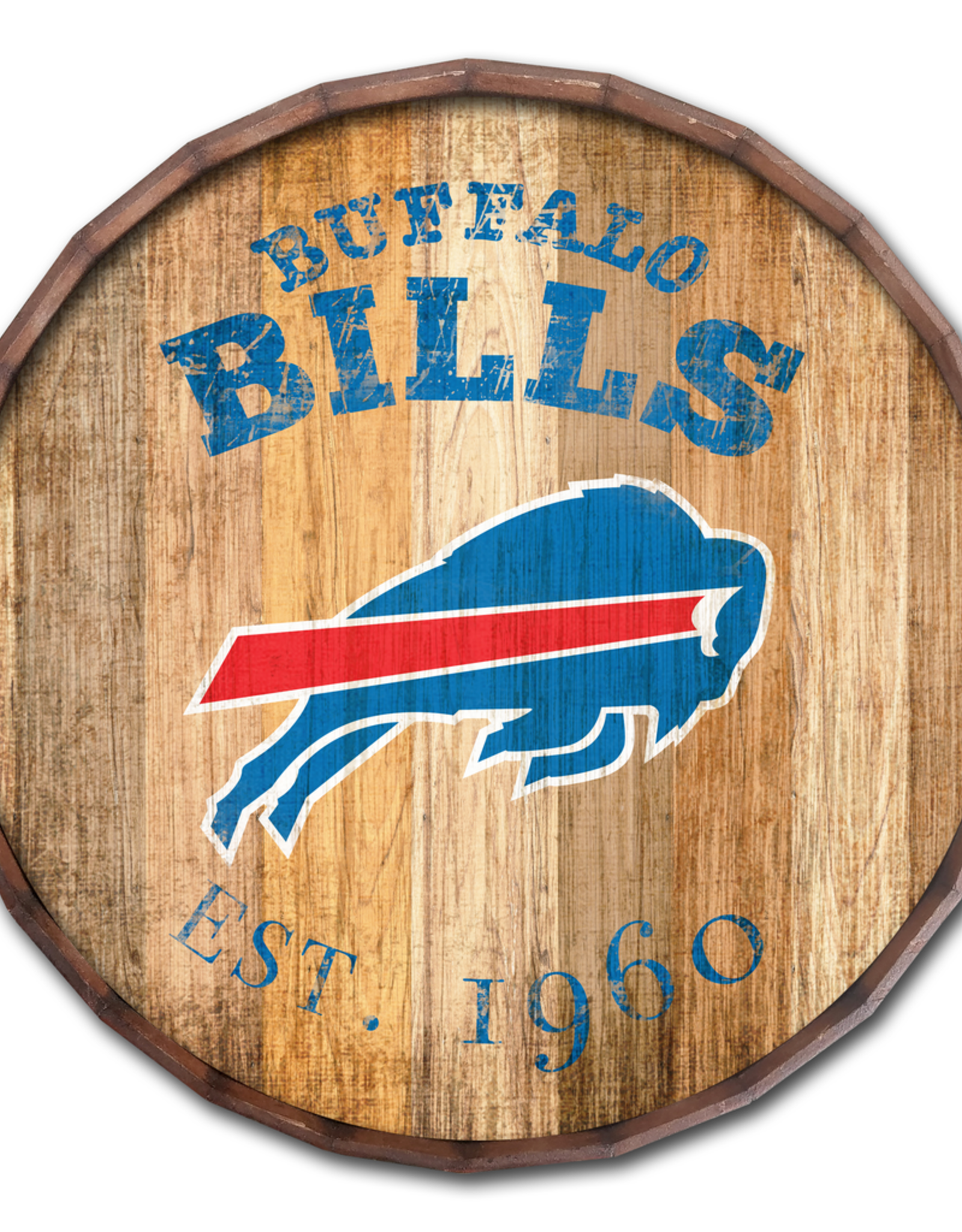 "FAN CREATIONS Buffalo Bills 16"" Cracked Barrel Top -EST"