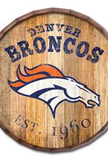 """FAN CREATIONS Denver Broncos 16"""" Cracked Barrel Top -EST"""