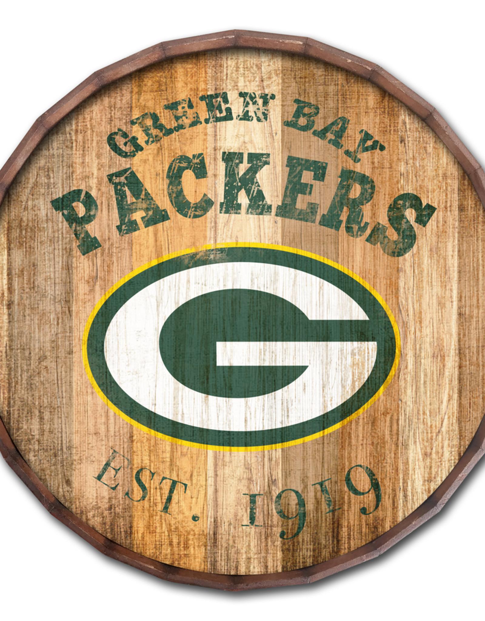 "FAN CREATIONS Green Bay Packers 16"" Cracked Barrel Top -EST"