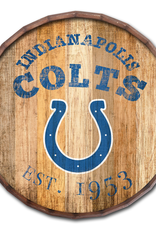 "FAN CREATIONS Indianapolis Colts 16"" Cracked Barrel Top -EST"