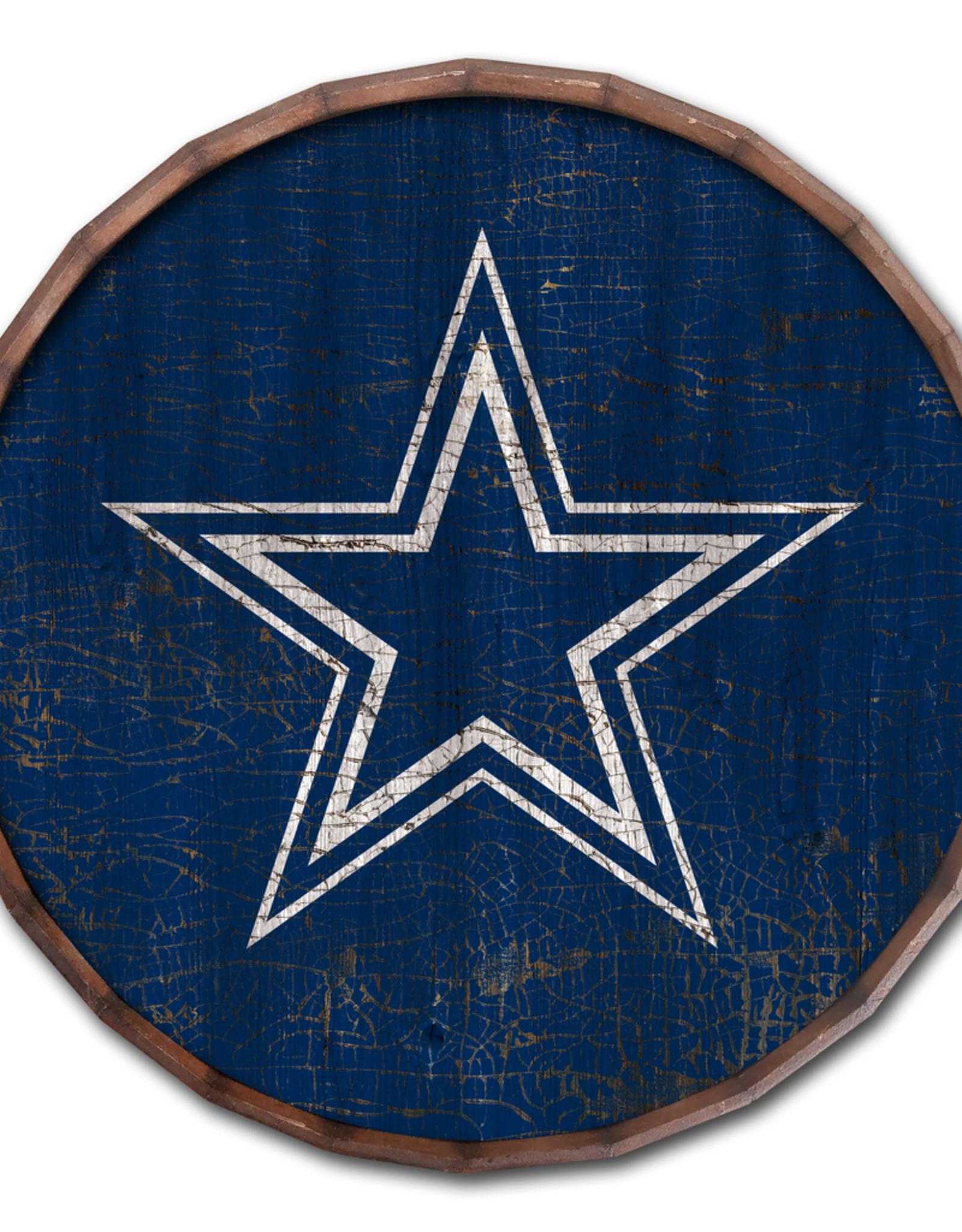 """FAN CREATIONS Dallas Cowboys 24"""" Cracked Barrel Top - TC"""
