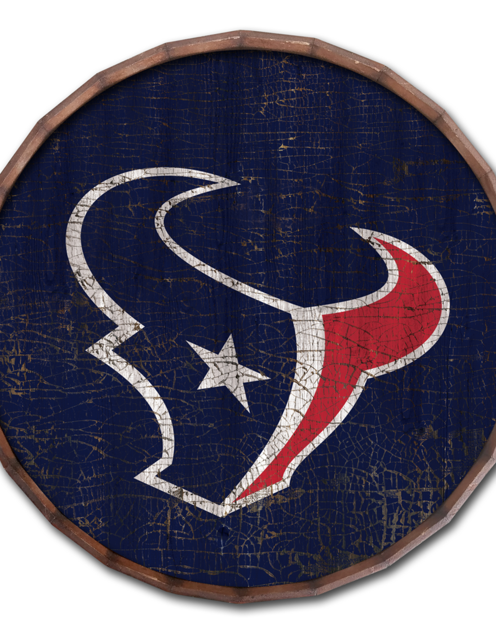"FAN CREATIONS Houston Texans 24"" Cracked Barrel Top - TC"