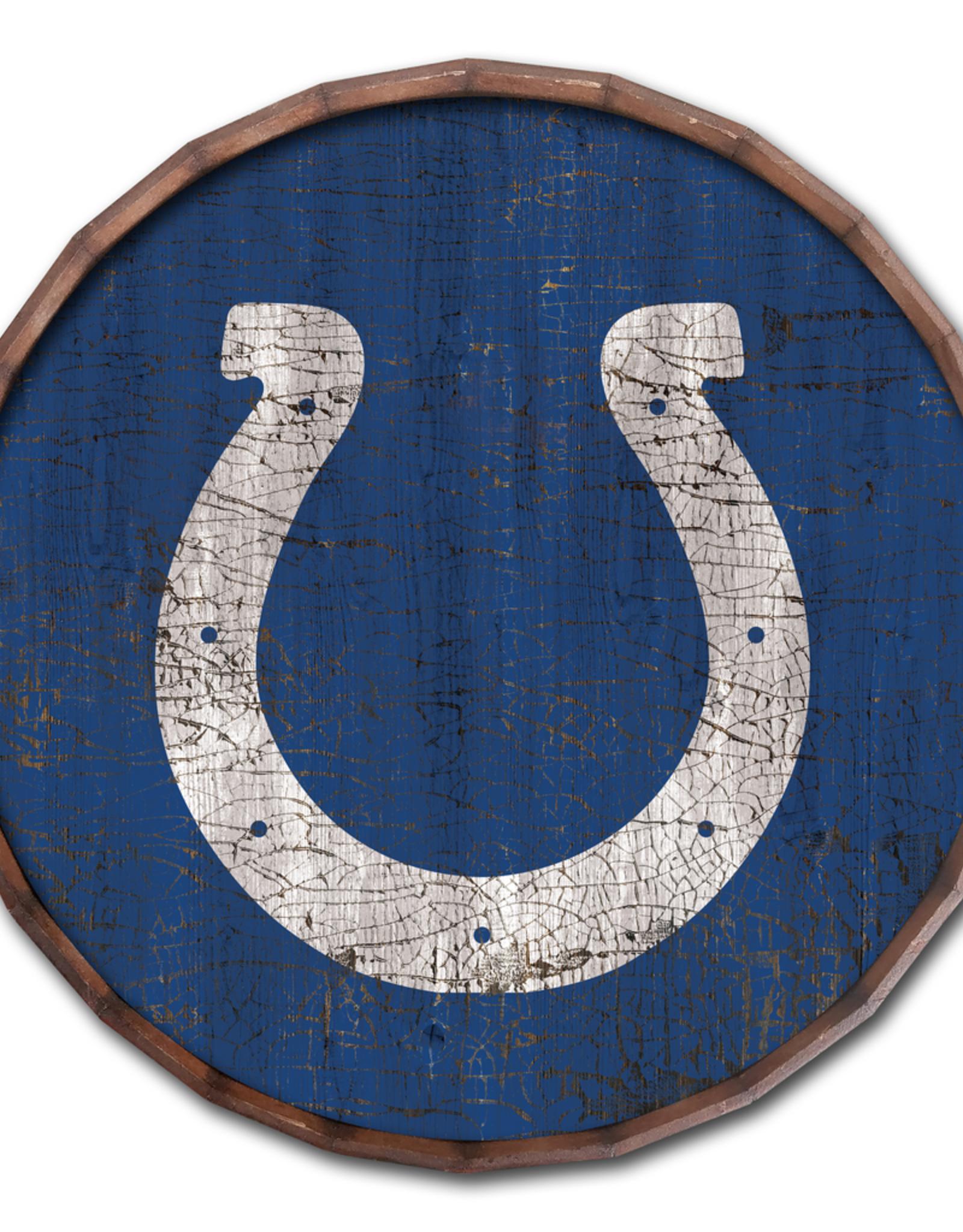 "FAN CREATIONS Indianapolis Colts 24"" Cracked Barrel Top - TC"