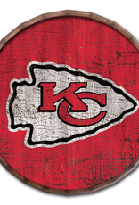 "FAN CREATIONS Kansas City Chiefs 24"" Cracked Barrel Top - TC"