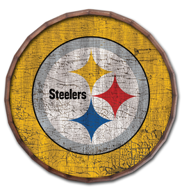 """FAN CREATIONS Pittsburgh Steelers 24"""" Cracked Barrel Top - TC"""