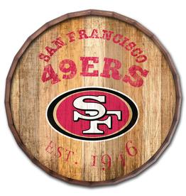 """FAN CREATIONS San Francisco 49ers 16"""" Cracked Barrel Top -EST"""