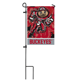 EVERGREEN Ohio State Brutus Garden Flag