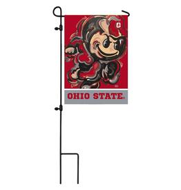 EVERGREEN Ohio State Brutus Justin Garden Flag