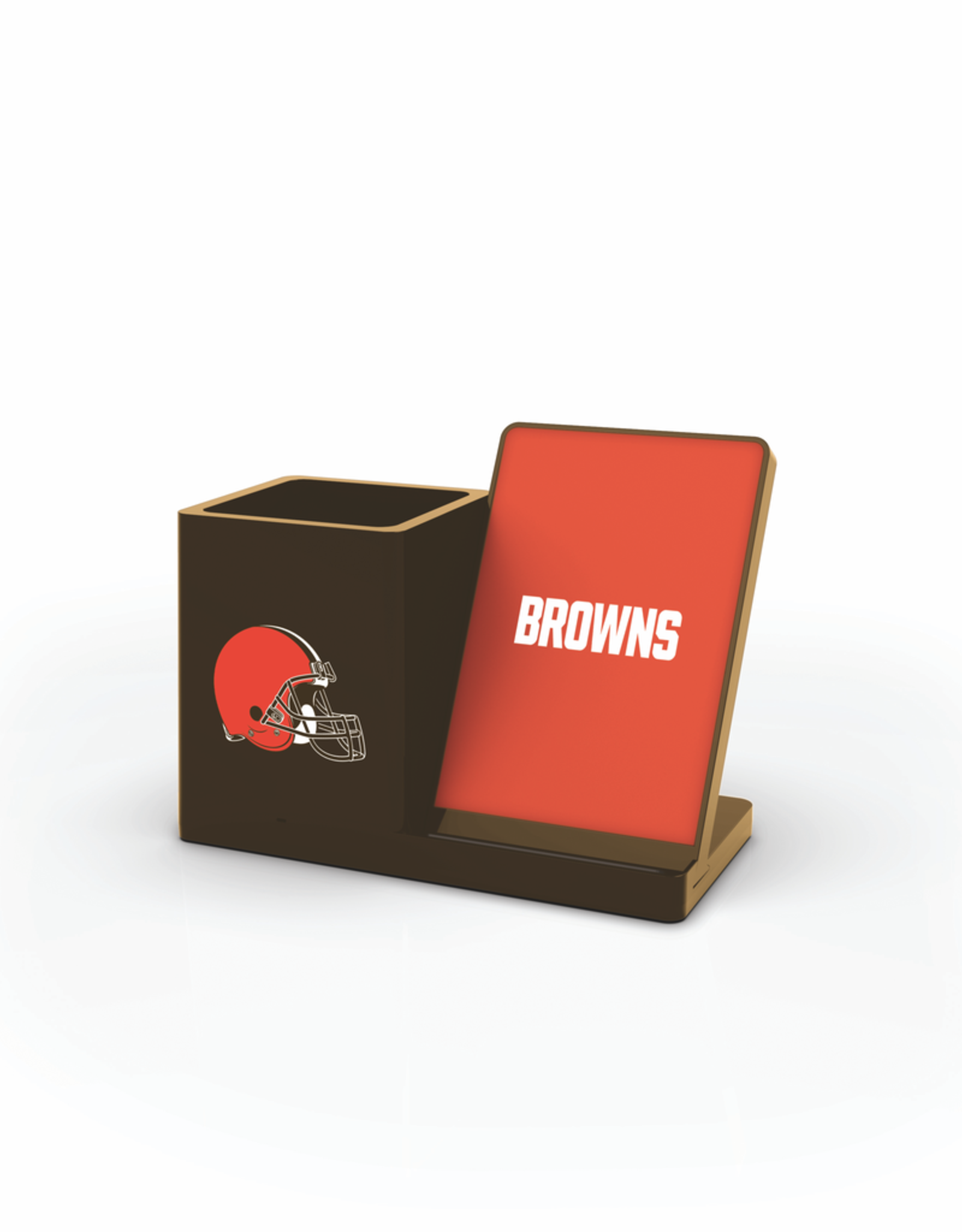 PRIME BRANDS GROUP Cleveland Browns Wireless Charging Pen Holder