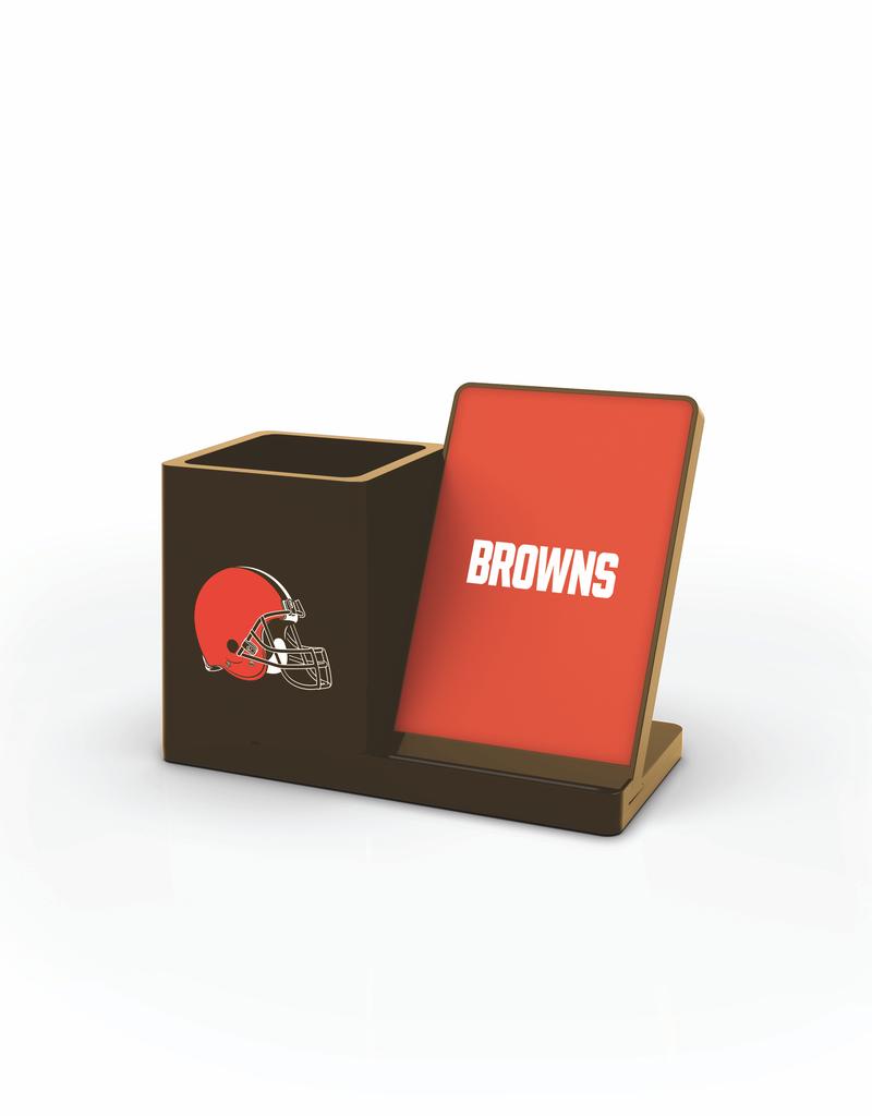 PRIME BRANDS GROUP Cleveland Browns Wireless Charging Pen Holder