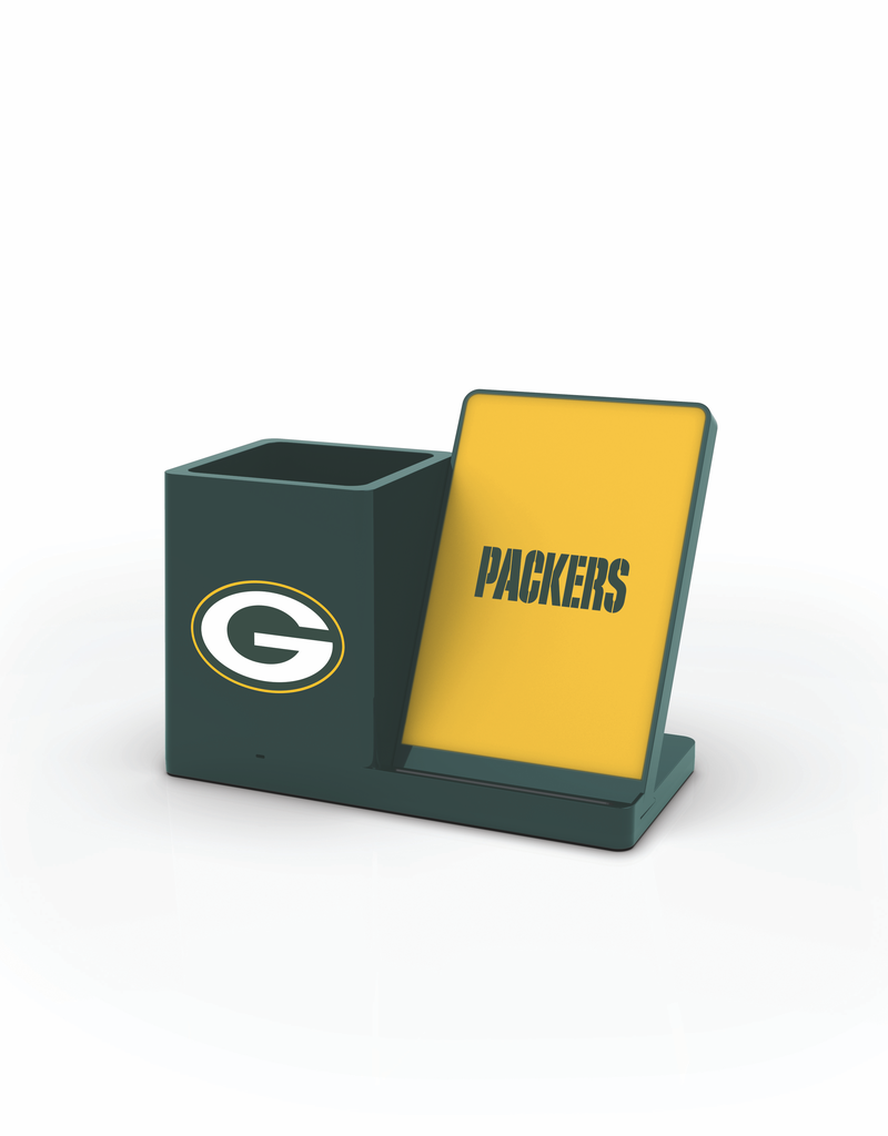 PRIME BRANDS GROUP Green Bay Packers Wireless Charging Pen Holder
