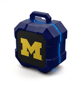 PRIME BRANDS GROUP University of Michigan Wolverines ShockBox LED Wireless Speaker