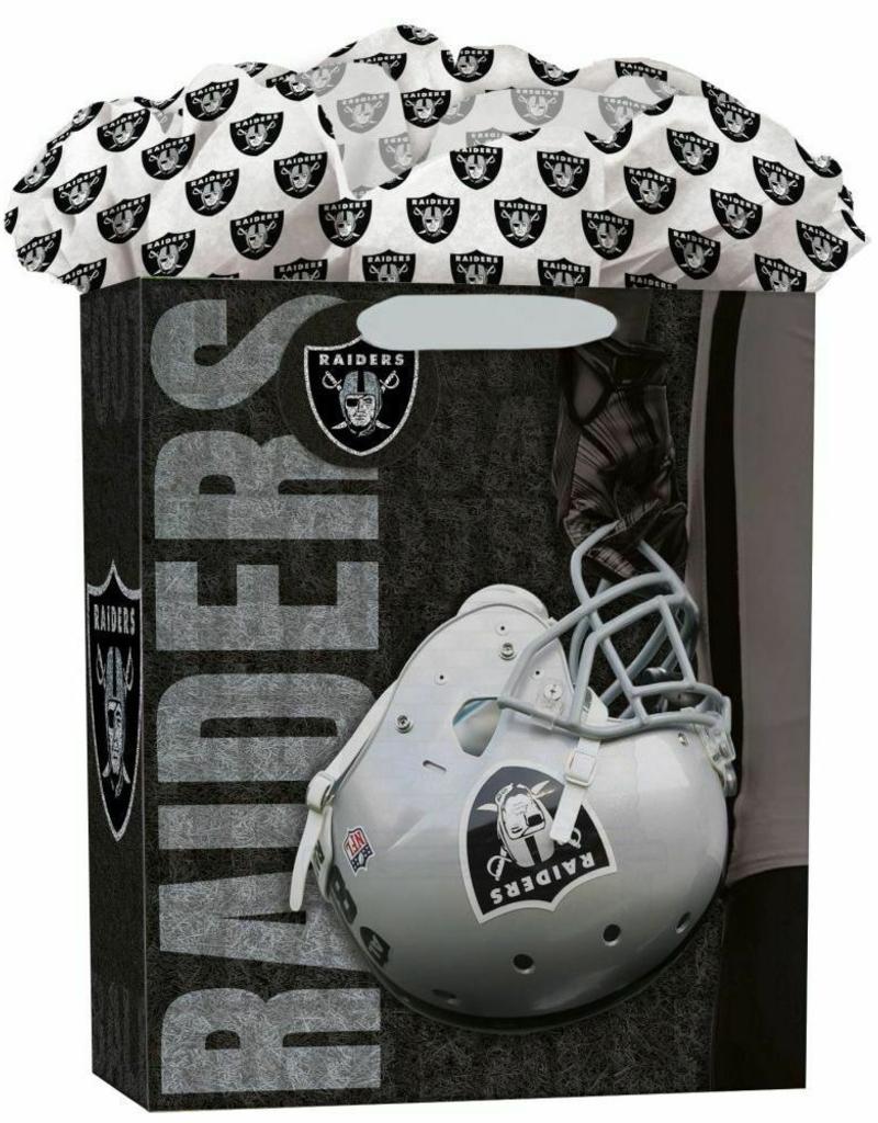 JF TURNER & CO Oakland Raiders Large GoGo Gift Bag