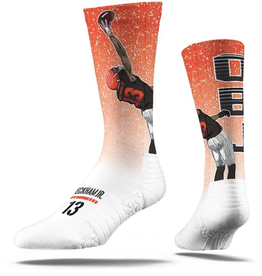 STRIDELINE Cleveland Browns Odell Beckham, Jr. Strideline Catch White Player Crew Socks