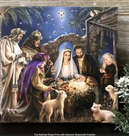 GLOW DÉCOR The Nativity Pizazz Print with Swarovski Crystals