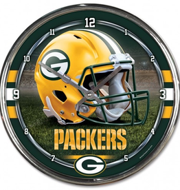 WINCRAFT Green Bay Packers Round Chrome Wall Clock