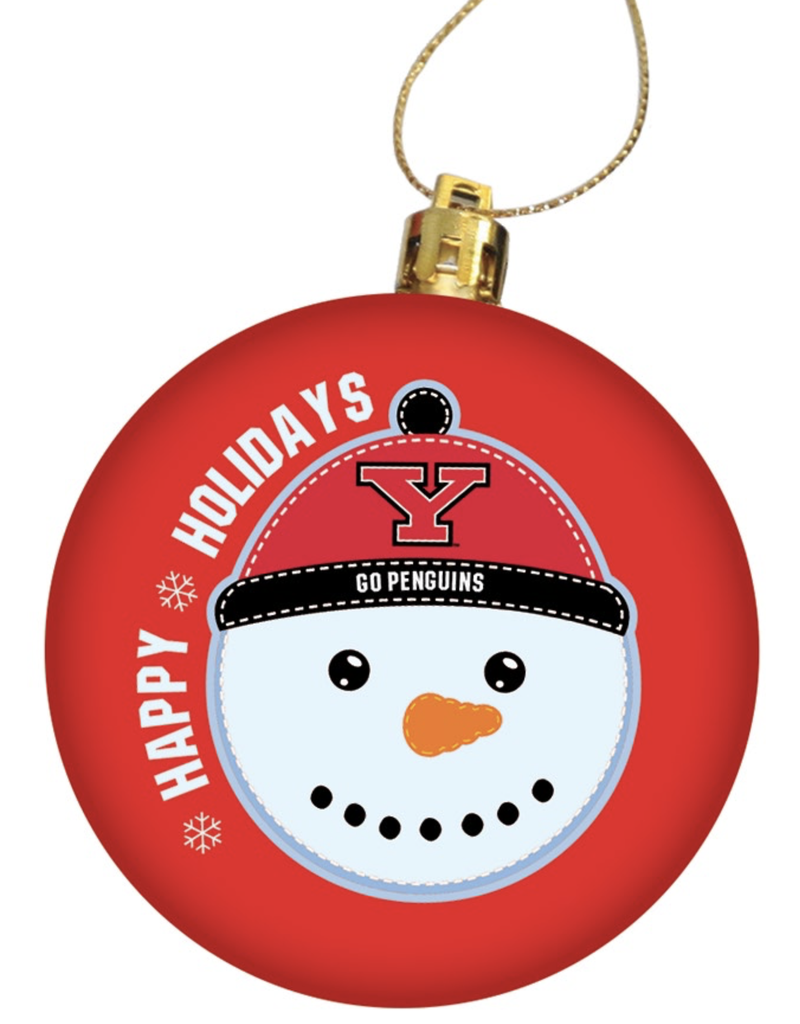 Youngstown State Penguins Round Ornament