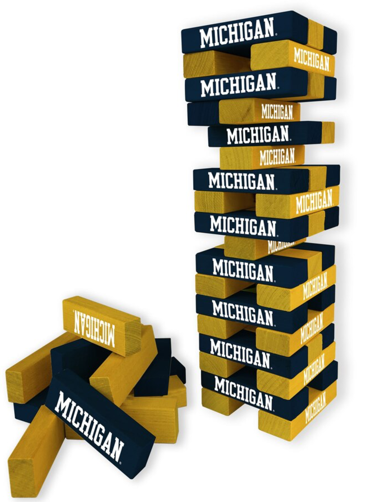 WILD SPORTS University of Michigan Wolverines Table Top Stackers