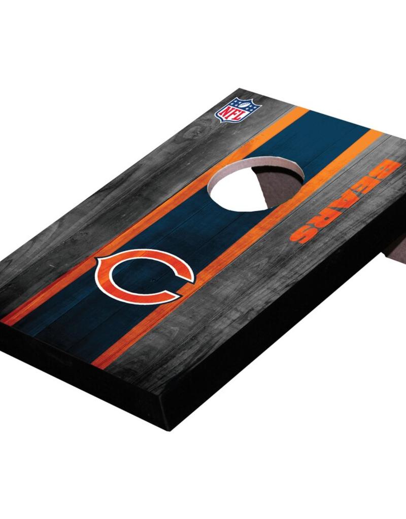 WILD SPORTS Chicago Bears Mini Tabletop Cornhole Board