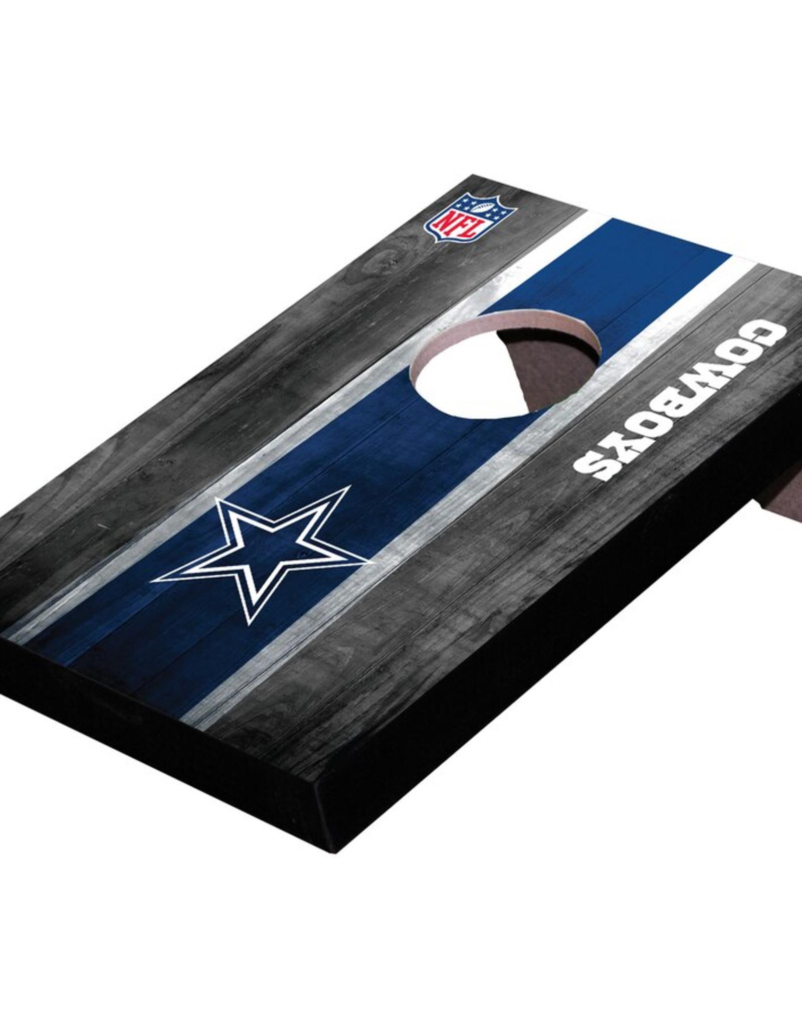 WILD SPORTS Dallas Cowboys Mini Tabletop Cornhole Board