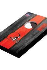 WILD SPORTS Cleveland Browns Mini Tabletop Cornhole Board