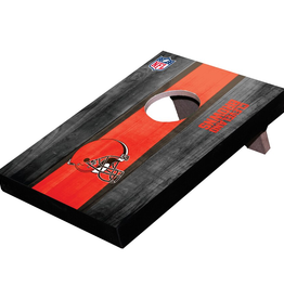 WILD SPORTS Cleveland Browns Mini Tabletop Cornhole Board
