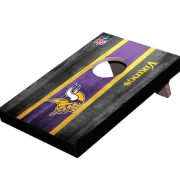 WILD SPORTS Minnesota Vikings Mini Tabletop Cornhole Board