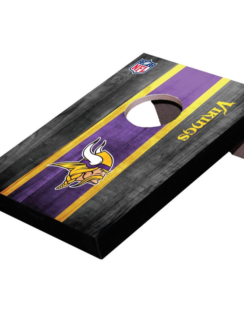 WILD SPORTS Minnesota Vikings Mini Tabletop Cornhole Board