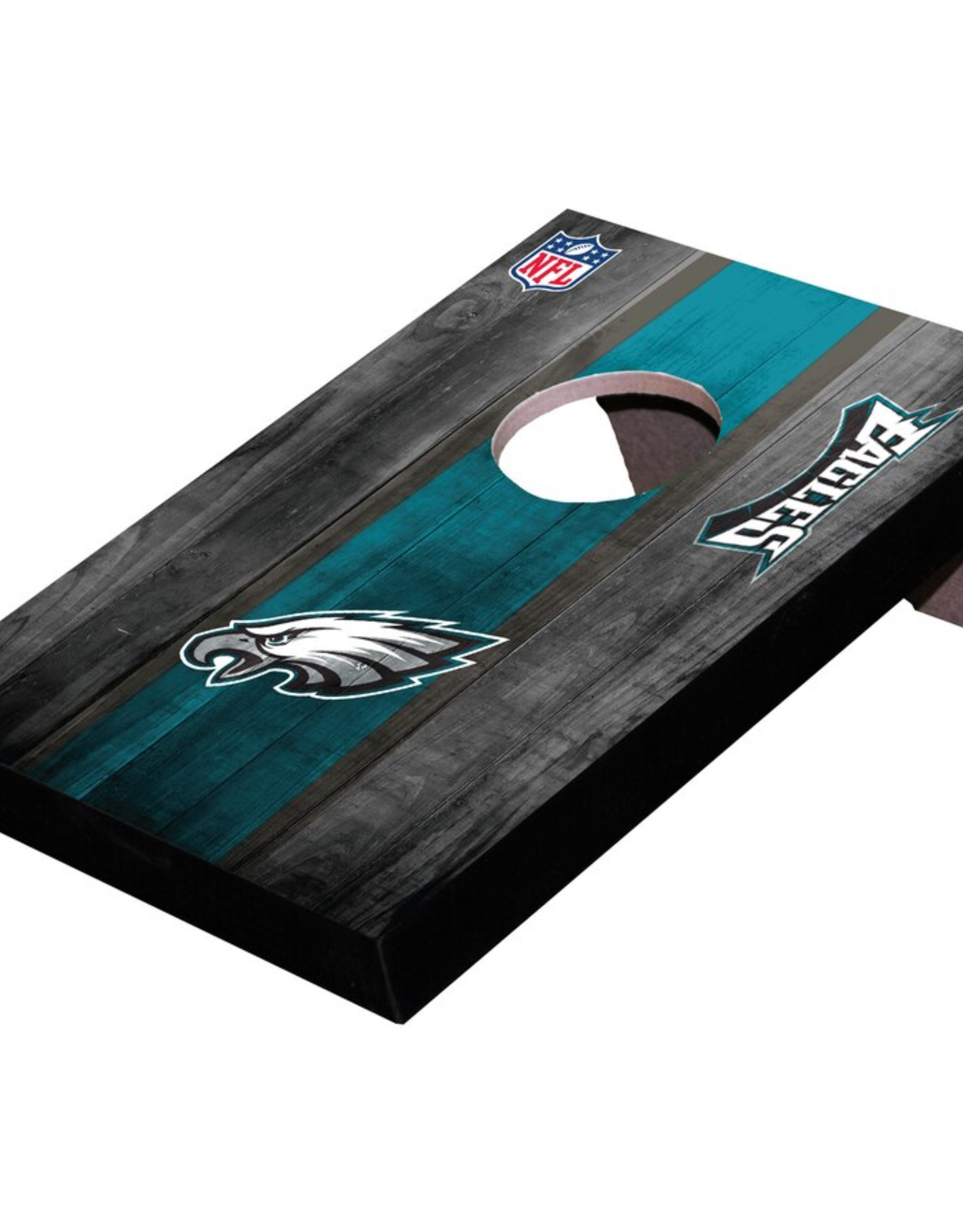 WILD SPORTS Philadelphia Eagles Mini Tabletop Cornhole Board