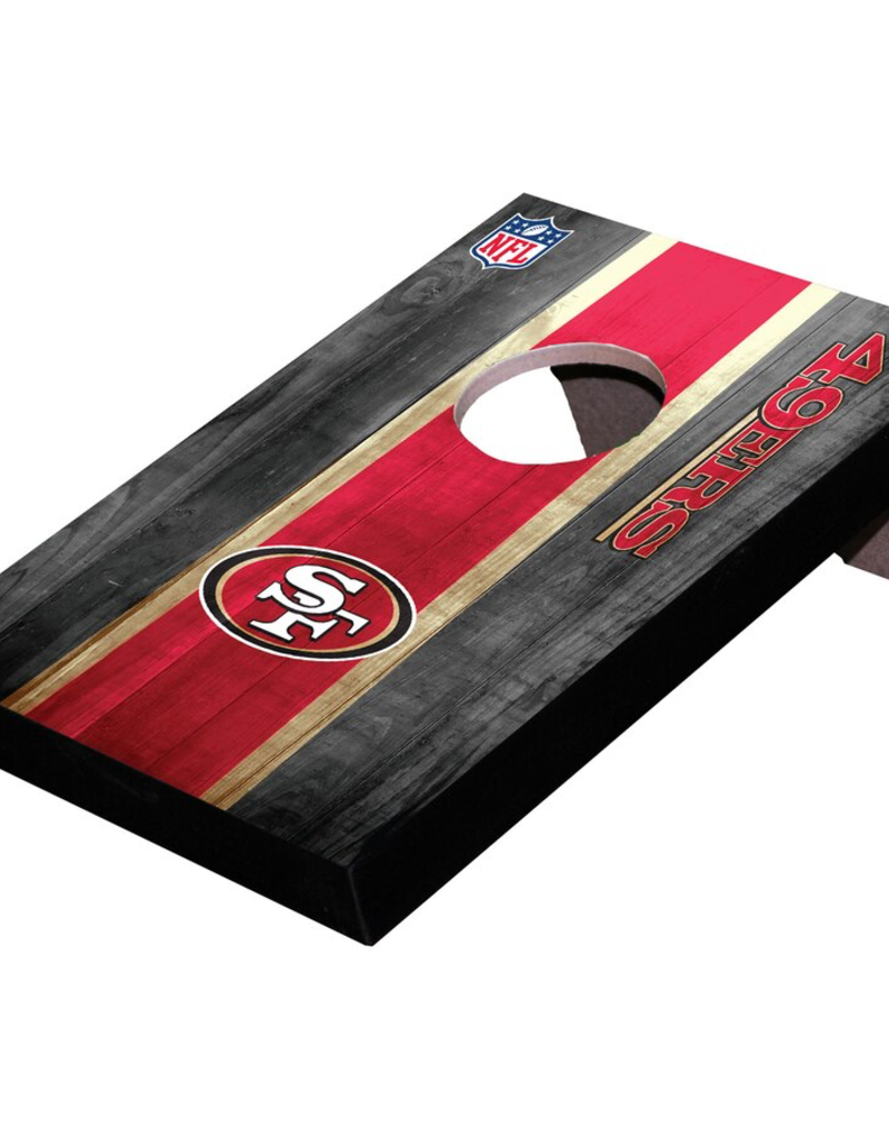 WILD SPORTS San Francisco 49ers Mini Tabletop Cornhole Board