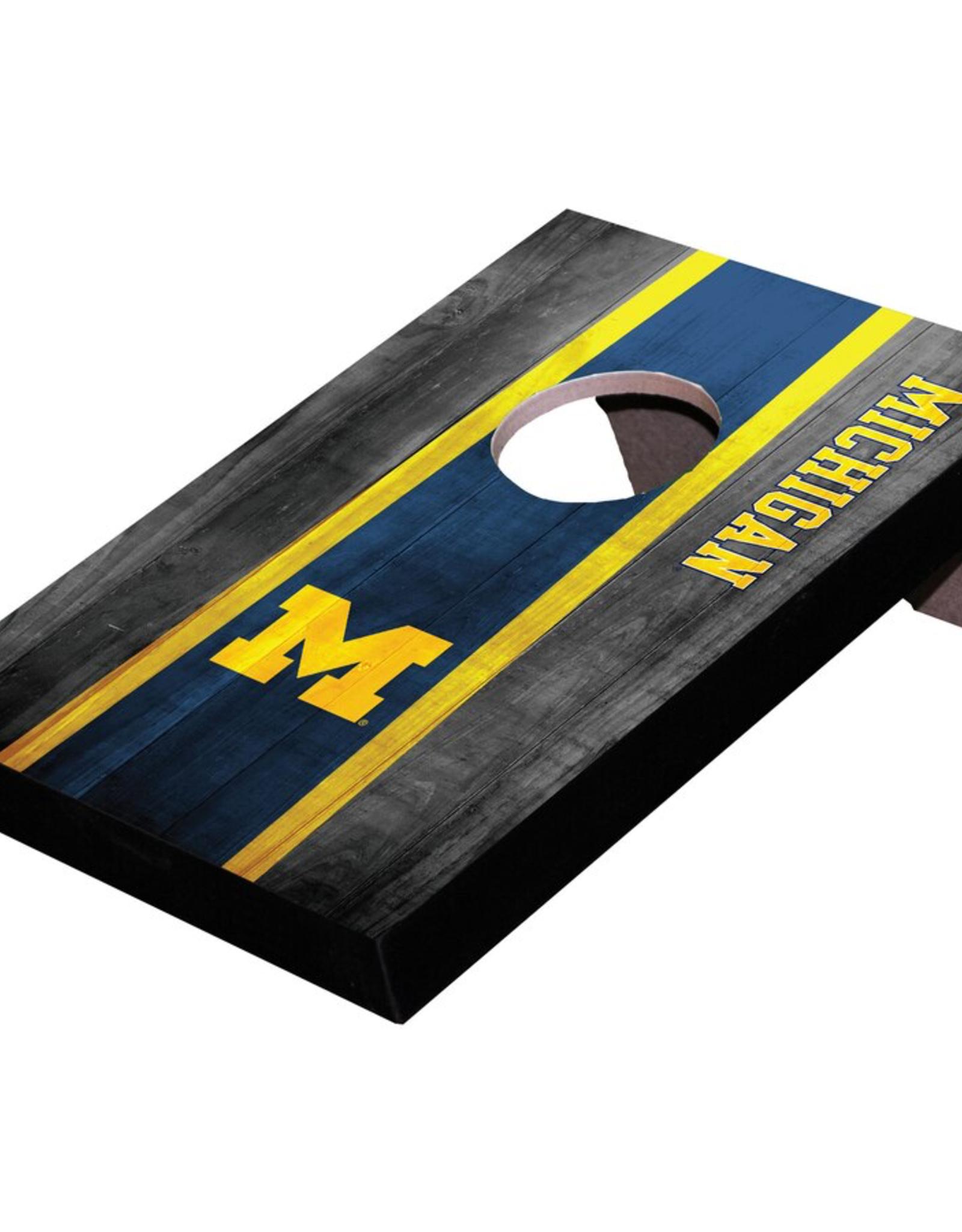 WILD SPORTS University of Michigan Wolverines Mini Tabletop Cornhole Board