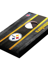 WILD SPORTS Pittsburgh Steelers Mini Tabletop Cornhole Board