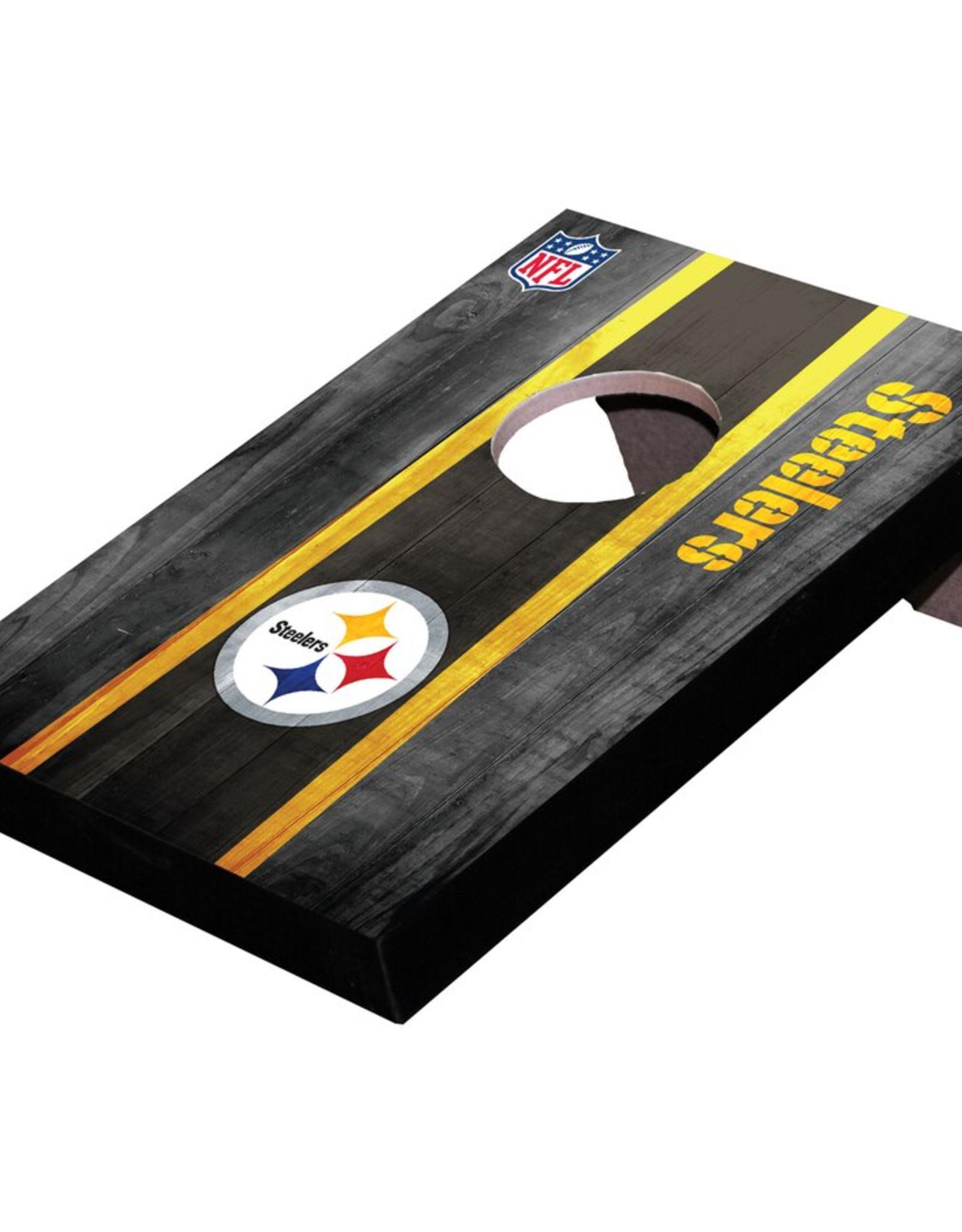 WILD SPORTS Pittsburgh Steelers Mini Tabletop Cornhole Board