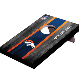 WILD SPORTS Denver Broncos Mini Tabletop Cornhole Board
