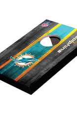 WILD SPORTS Miami Dolphins Mini Tabletop Cornhole Board