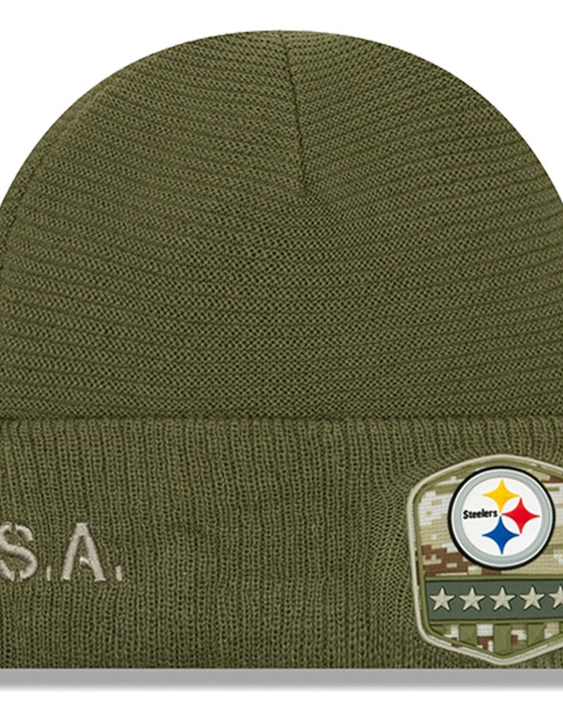 NEW ERA Pittsburgh Steelers New Era NFL 2019 Salute to Service Cuffed Knit Hat